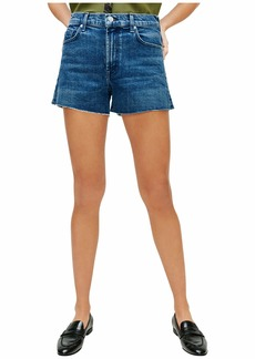 7 For All Mankind High-Waist Shorts with Fray Hem in Retro Broadway