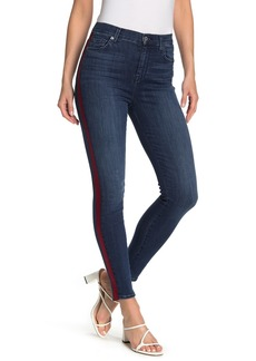 7 For All Mankind High Waist Side Trim Skinny Jeans