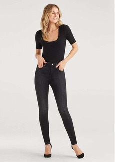 7 For All Mankind High Waist Skinny in Black Magic