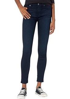 7 For All Mankind High-Waist Skinny in Blue/Black River Thames