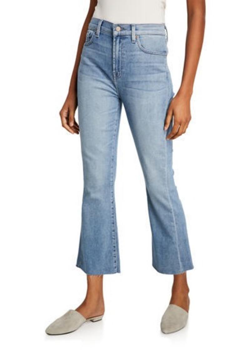 7 For All Mankind High-Waist Slim Kick Cutoff Jeans