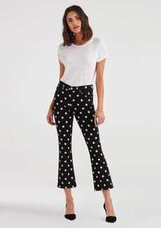 7 For All Mankind High Waist Slim Kick in Black and White Polka Dot