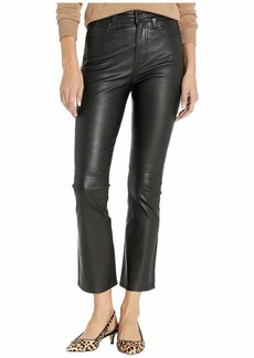 7 For All Mankind High-Waist Slim Kick in Jet Black