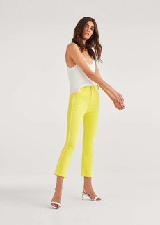 7 For All Mankind High Waist Slim Kick in Sunflower