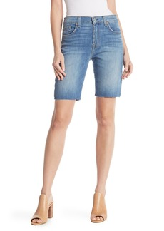 7 For All Mankind High Waist Straight Bermuda Shorts