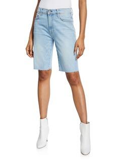 7 For All Mankind High-Waist Straight Bermuda Shorts