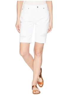 7 For All Mankind High-Waist Straight Bermuda Shorts in White Fashion 4