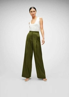 7 For All Mankind High Waist Super Flare Trouser in Military Green