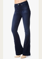 7 For All Mankind High Waist Wide Leg Trouser in Pristine Blue Black