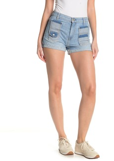 7 For All Mankind High Waisted 6-Pocket Denim Shorts