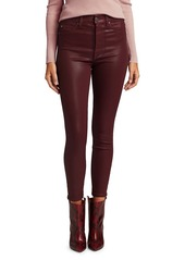 7 For All Mankind High-Waisted Ankle Skinny Coated Jeans