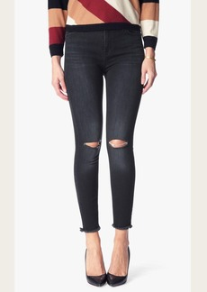 High Waisted Ankle Skinny with Released Hem in Ashford Black