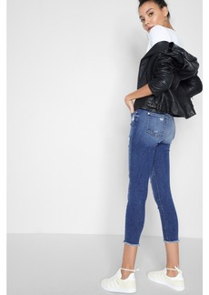 High Waisted Ankle Skinny with Released hem in Serratoga Bay