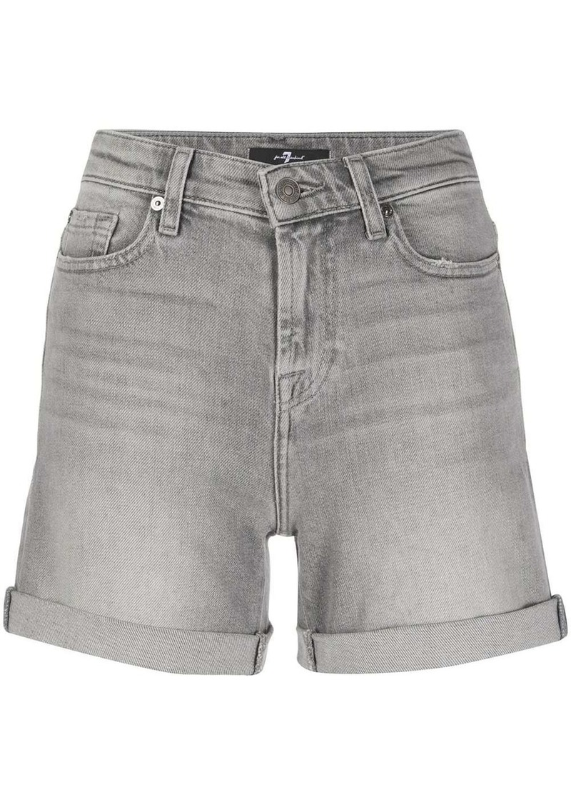 7 For All Mankind high-waisted boy shorts