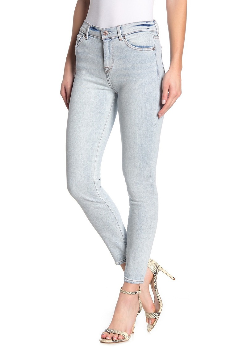 7 For All Mankind High Waisted Skinny Ankle Jean