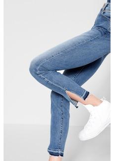 Highwaist Ankle Skinny with Side Slit Released Hem
