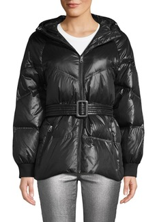 7 For All Mankind Hooded & Belted Down Puffer