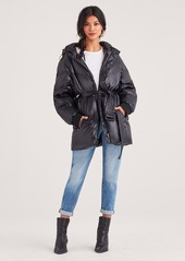 7 For All Mankind Hooded Belted Down Parka in Black