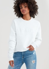 7 For All Mankind I Wonder Sweatshirt in Optic White