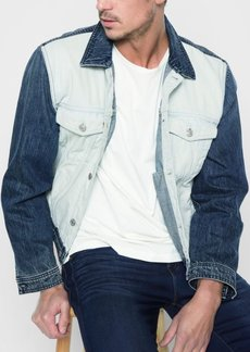 7 For All Mankind Inside Out Trucker Jacket in Vintage Blue