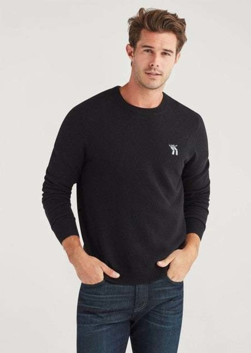7 For All Mankind Jeansman Crewneck Sweater in Black