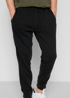 7 For All Mankind Jogger Sweatpant with Faux Suede Trim in Black
