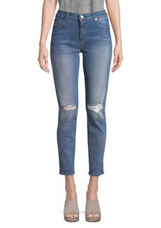 7 For All Mankind Josefina Busted-Knee Jeans