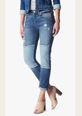 7 For All Mankind Josefina with Destroy in Light Patched Denim