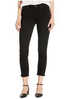7 For All Mankind Kimmie Crop in B(Air) Black