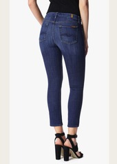 7 For All Mankind Kimmie Crop in Brilliant Broken Twill