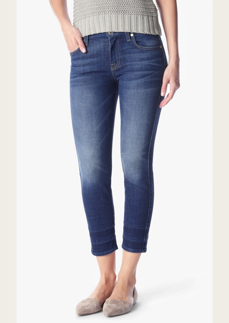 7 For All Mankind Kimmie Crop With Shadow Hem in Castle Rhodes