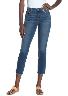 7 For All Mankind Kimmie Frayed Hem Cropped Jeans