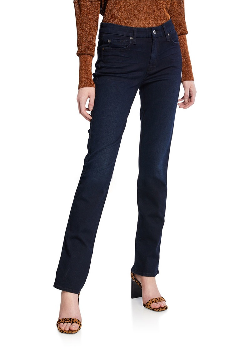 7 For All Mankind Kimmie Straight-Leg Jeans  Blue Black River