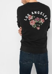 7 For All Mankind LA Floral Sweatshirt in Black