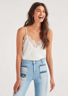 7 For All Mankind Lace Trim Cami in Chalk