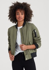 7 For All Mankind Lace up Bomber in Pickle