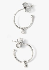 7 For All Mankind Large Sized Hoops with CZ Charm in Silver