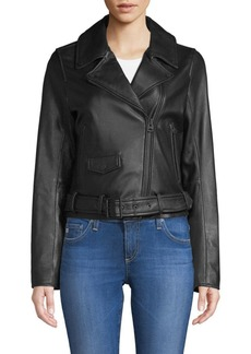 7 For All Mankind Leather Moto Jacket