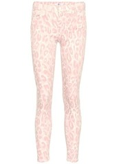 7 For All Mankind Leopard mid-rise skinny jeans