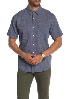 7 For All Mankind Linen Short Sleeve Shirt