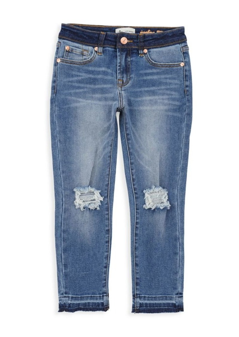 7 For All Mankind Little Girl's & Girl's Luxe Vintage Edie Distress Jeans