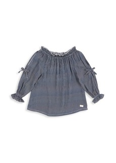 7 For All Mankind Little Girl's & Girl's Off-the-Shoulder Top