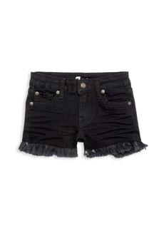 7 For All Mankind Little Girl's & Girl's Raw-Edge Denim Shorts