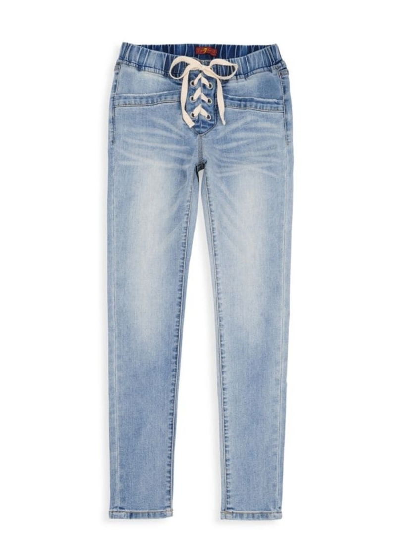 7 For All Mankind Little Girl's & Girl's Vintage Lace-Up Jeans