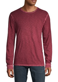 7 For All Mankind Long-Sleeve Cotton Top