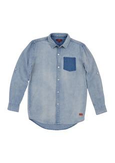 7 For All Mankind Long Sleeve Denim Shirt (Little Boys)