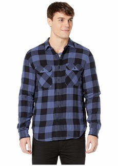 7 For All Mankind Long Sleeve Double Face Buffalo Check Shirt