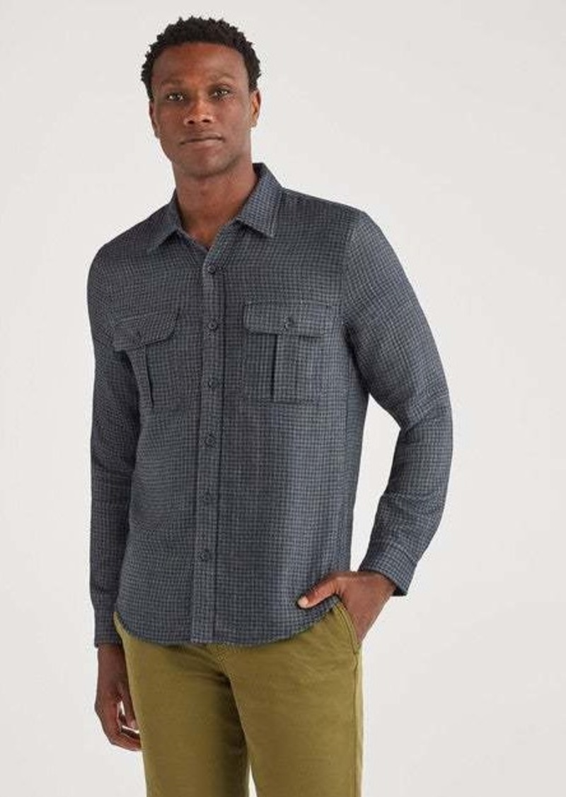 7 For All Mankind Long Sleeve Double Patch Pocket Shirt in Navy
