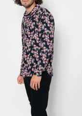 7 For All Mankind Long Sleeve Flannel in Red Floral