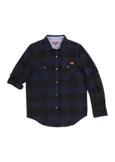7 For All Mankind Long Sleeve Flannel Shirt (Little Boys)